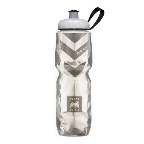 Insulated Pattern Chevron Negro - Polar Bottle