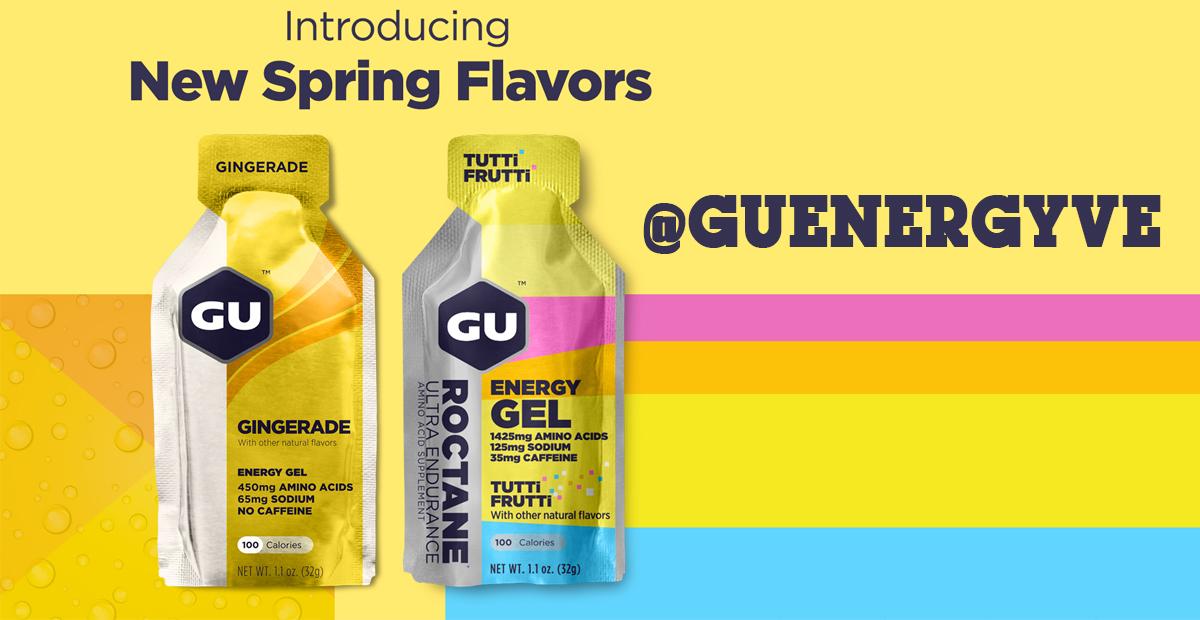 Nuevos sabores de Gu Energy Labs - Gingerade y Tutti Frutti Roctane