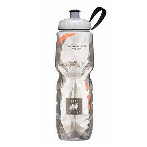 Insulated Pattern Carbon Orange - Polar Bottle