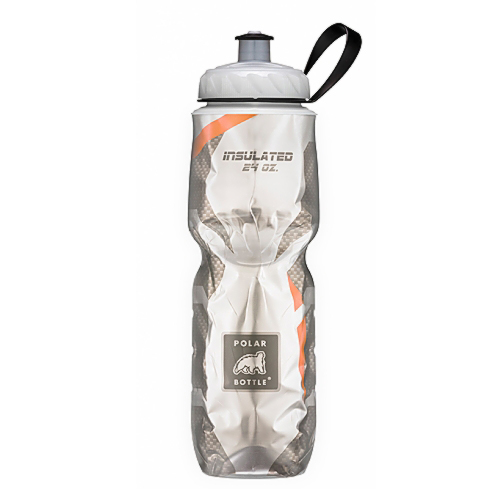 Insulated Pattern Carbon Orange - Polar Bottle