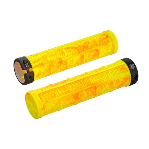 Puños de Goma Amarillos Splash Naranja | Supacaz